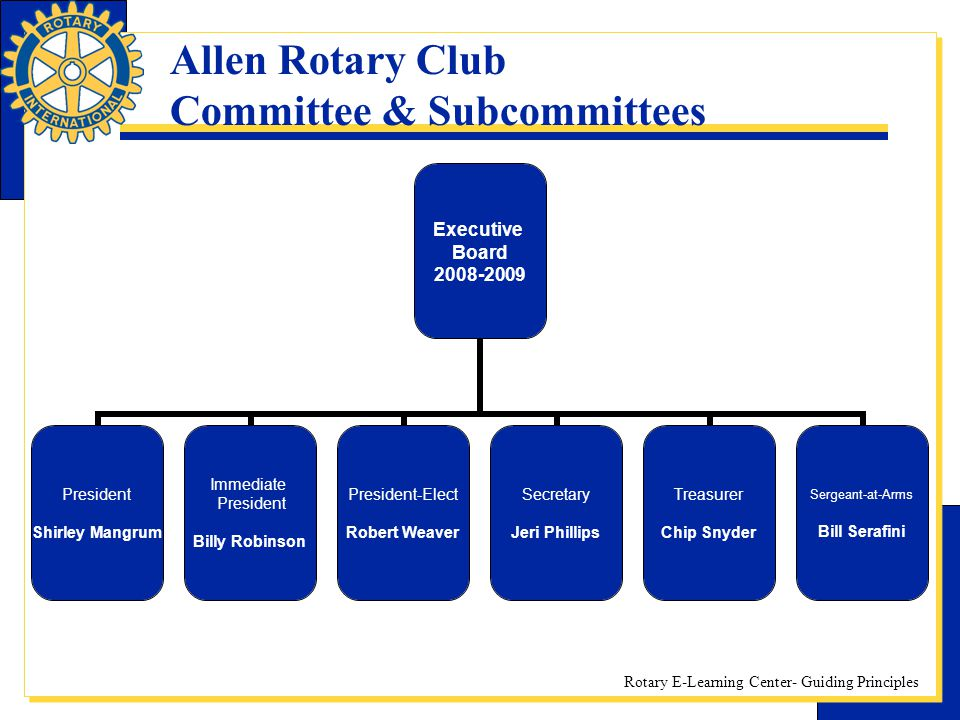 Allen Rotary Club Committee & Subcommittees
