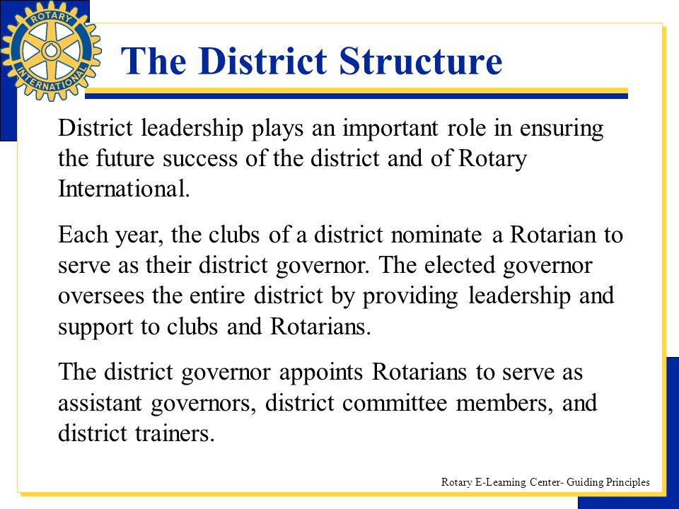 The District Structure