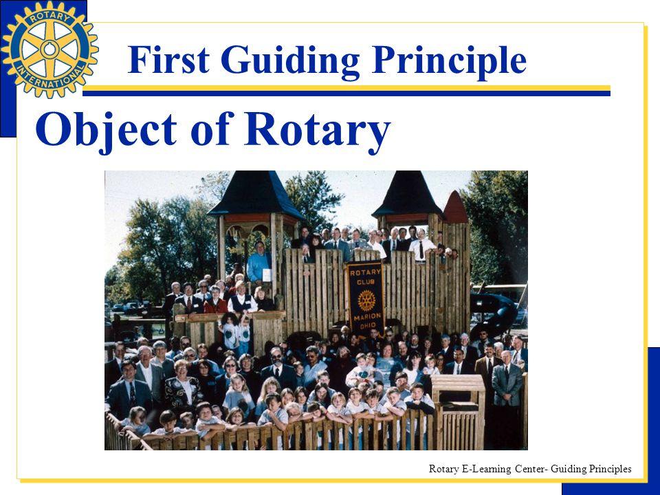 First Guiding Principle