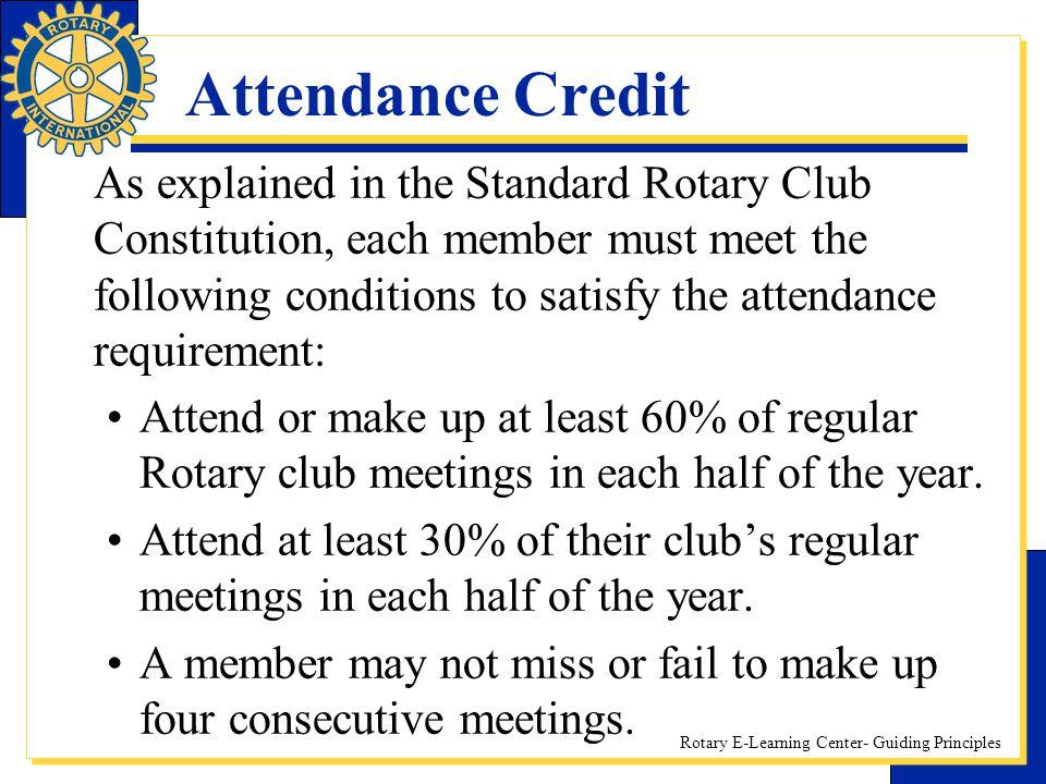 Attendance Credit