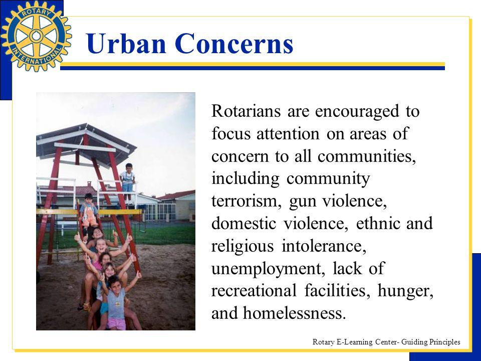 Urban Concerns