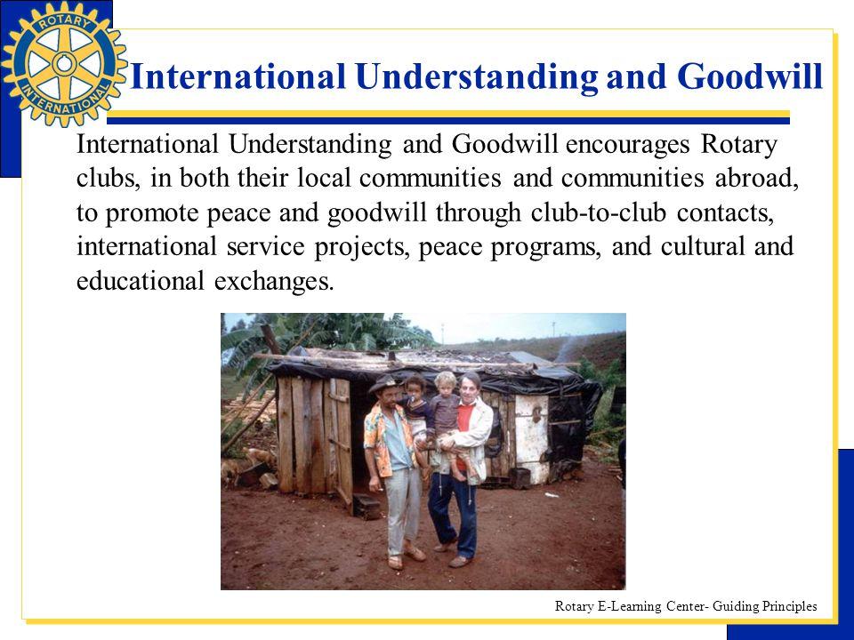 International Understanding and Goodwill