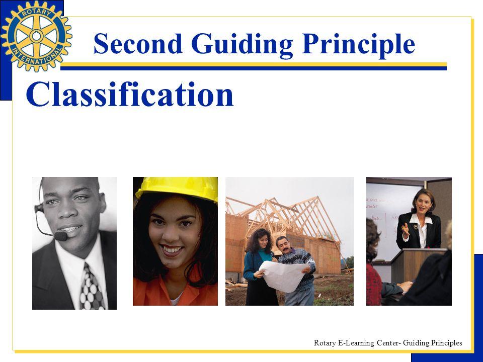 Second Guiding Principle