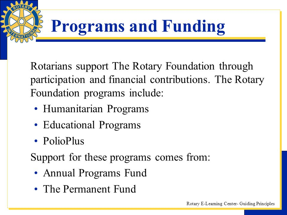 Programs and Funding