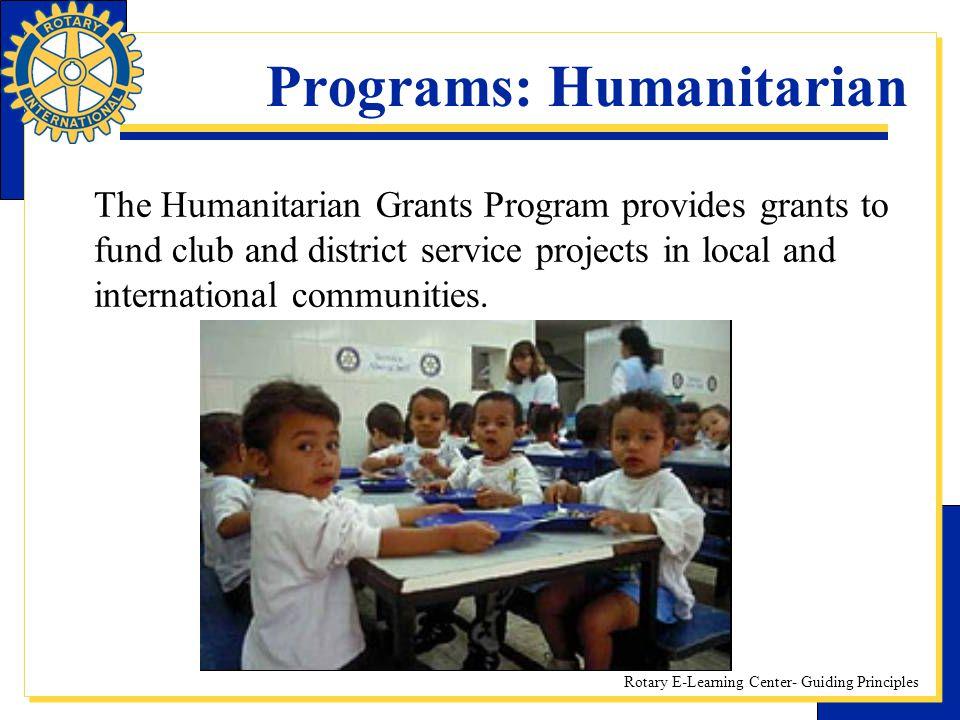 Programs: Humanitarian