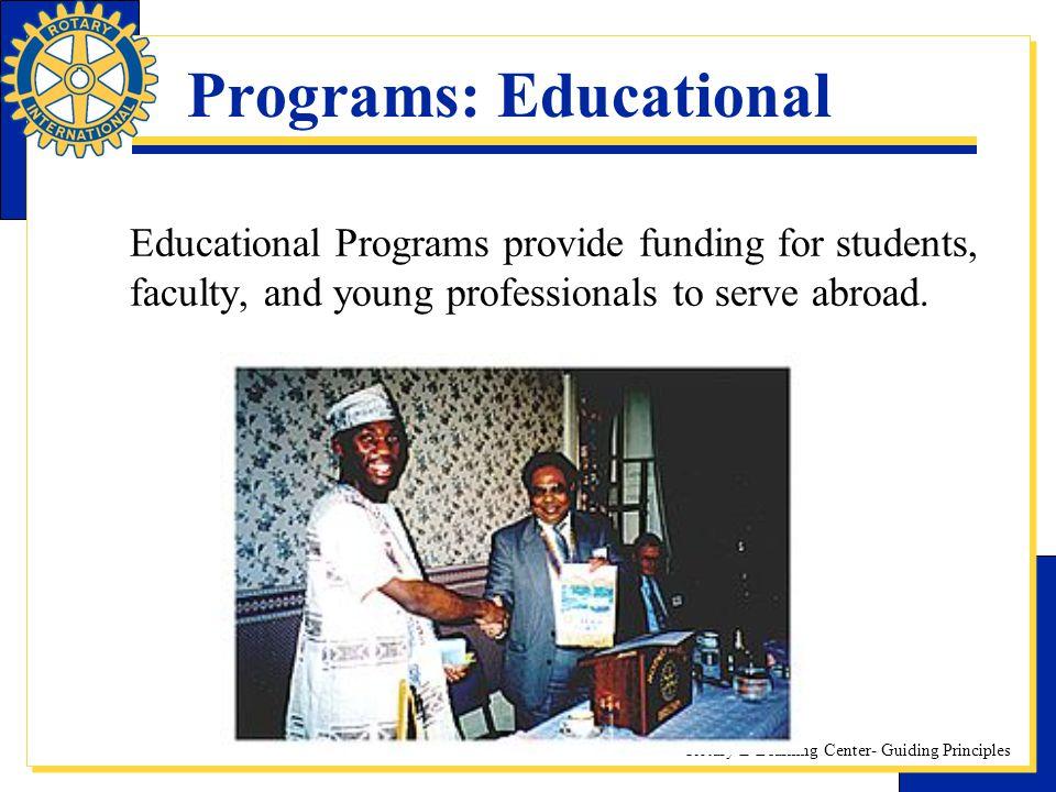 Programs: Educational