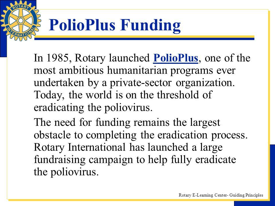 PolioPlus Funding