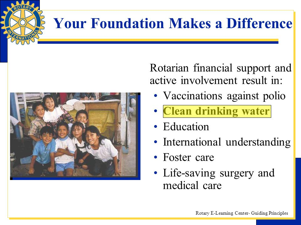 Your Foundation Makes a Difference