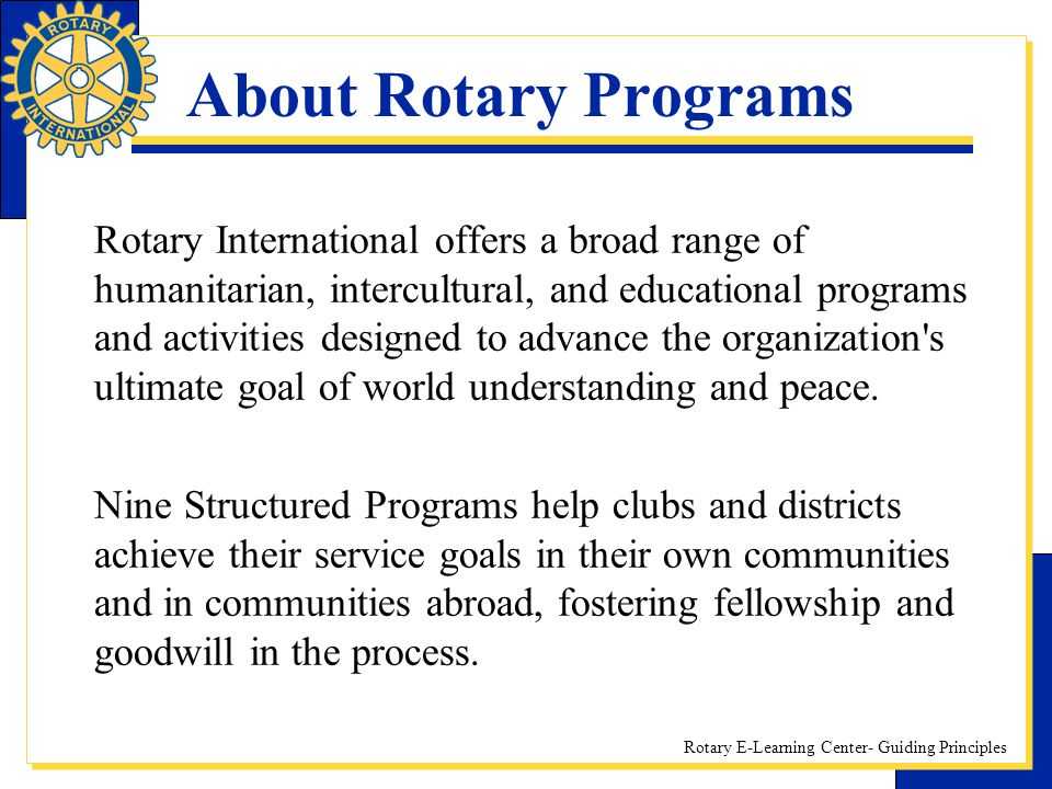 About Rotary Programs