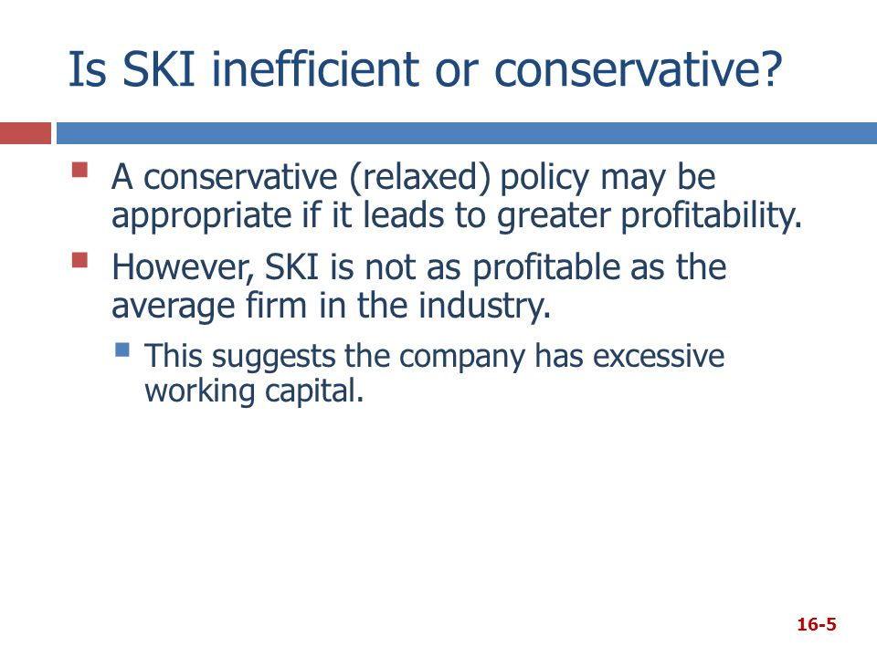 Is SKI inefficient or conservative