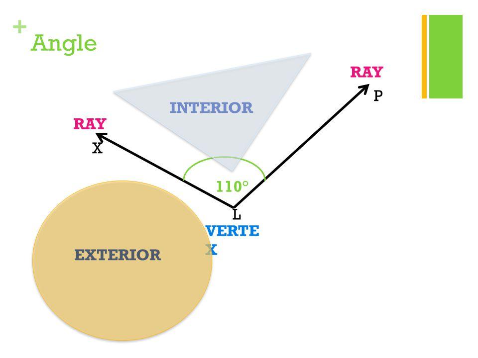 Angle RAY P INTERIOR RAY X 110° L VERTEX EXTERIOR