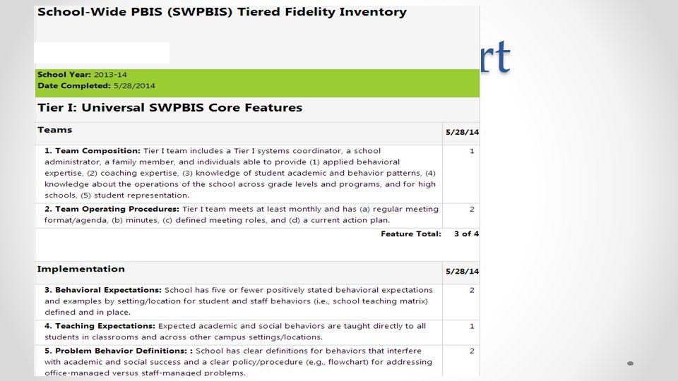 TFI Item report