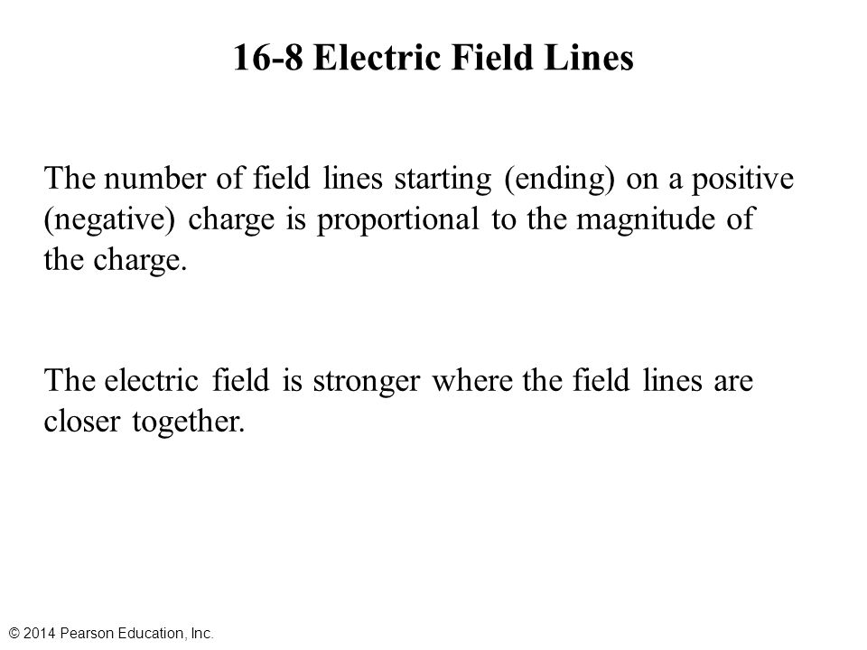 16-8 Electric Field Lines