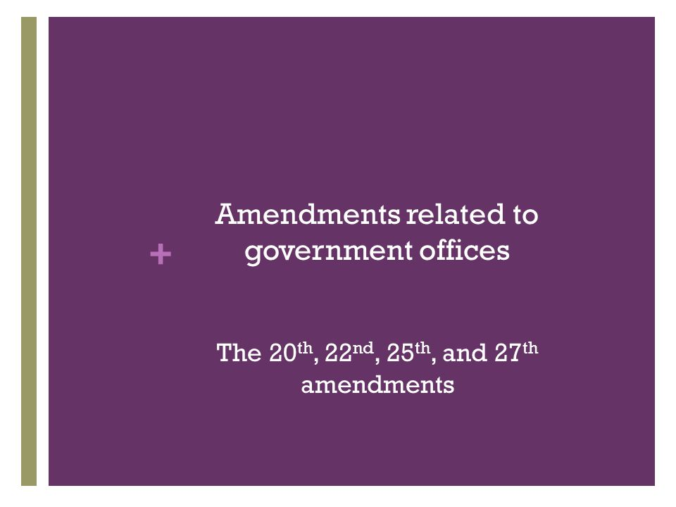 Amendments related to government offices