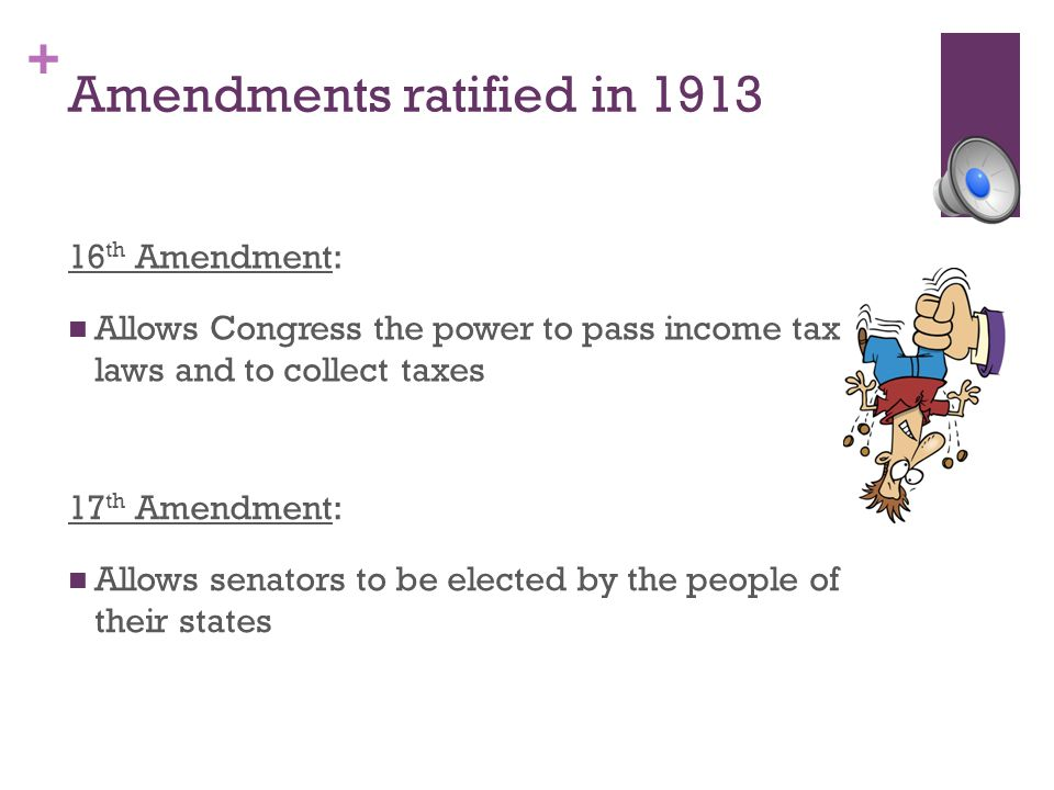 Amendments ratified in 1913