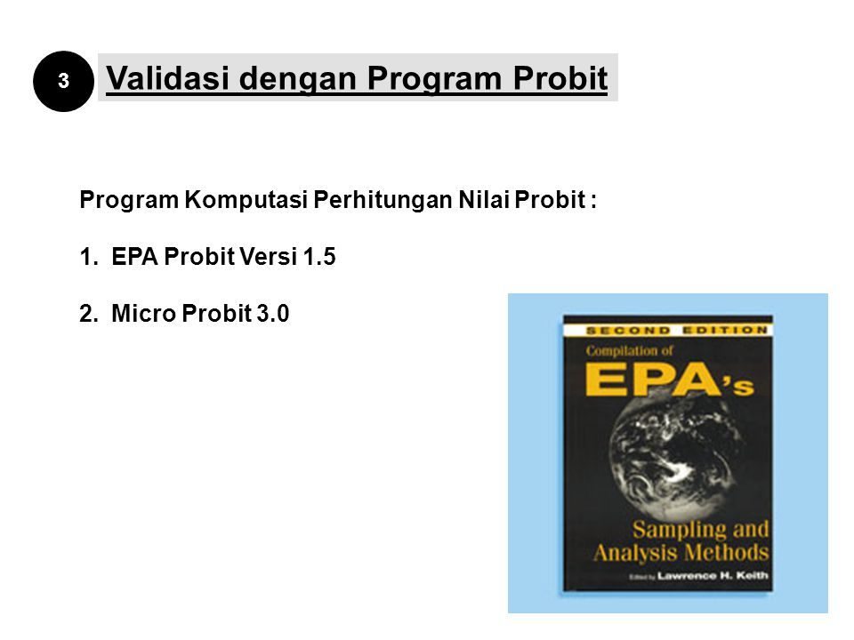 Validasi dengan Program Probit