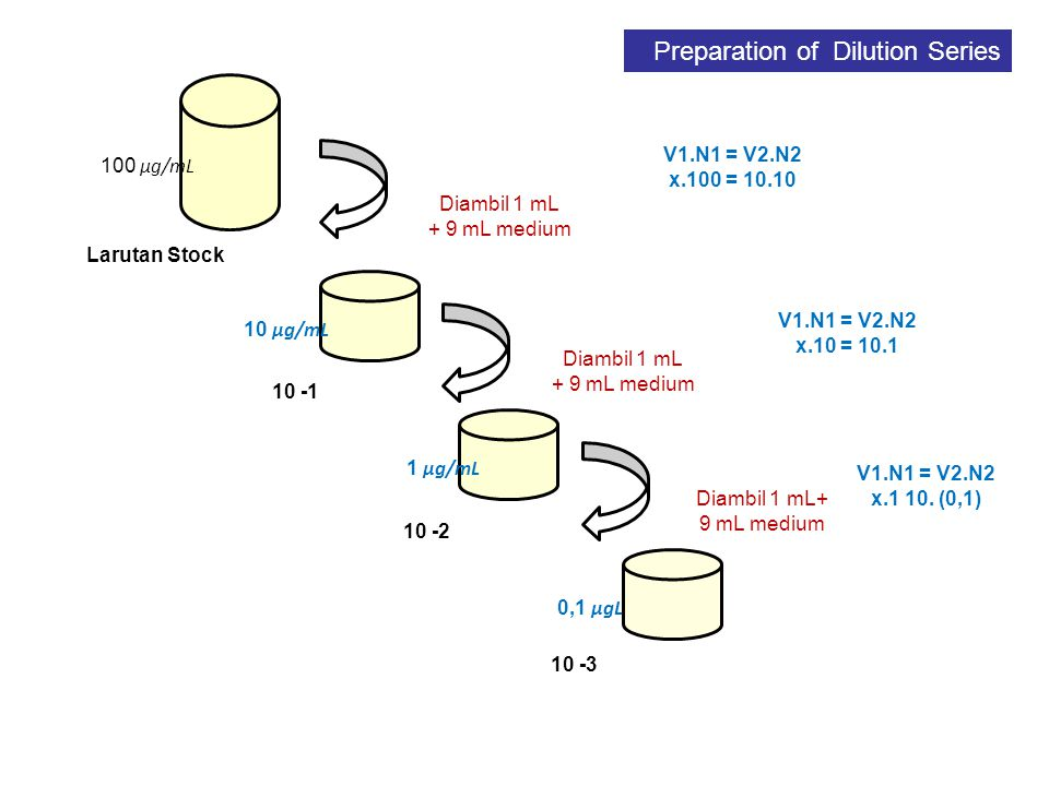 Preparation of Dilution Series