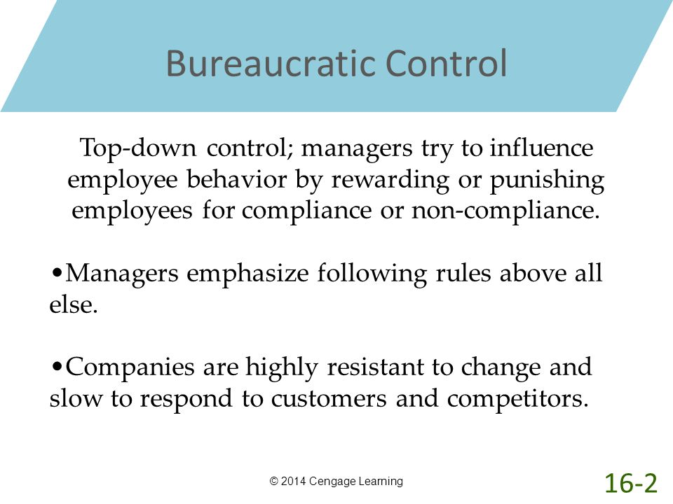 Bureaucratic Control 16-2