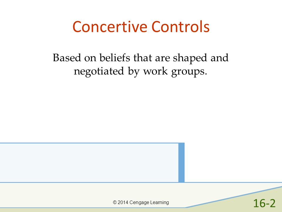 Concertive Controls 16-2 Based on beliefs that are shaped and
