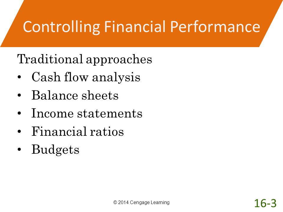 Controlling Financial Performance