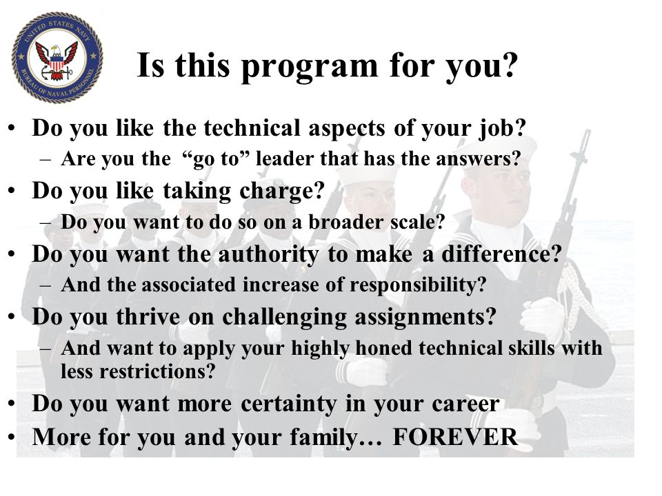 Is this program for you Do you like the technical aspects of your job Are you the go to leader that has the answers