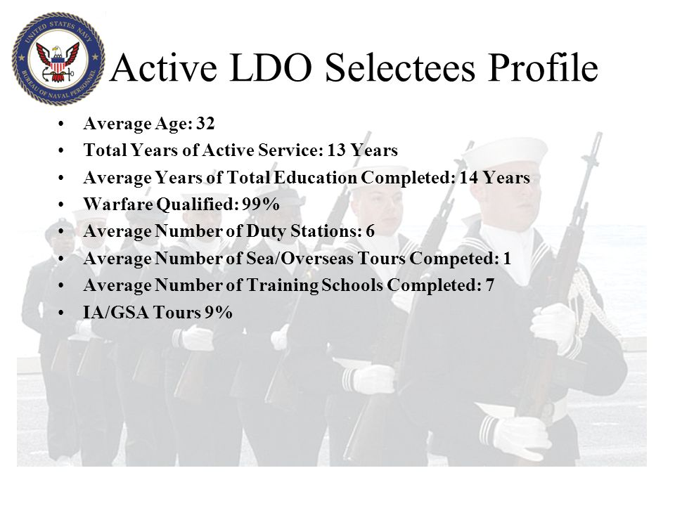 Active LDO Selectees Profile