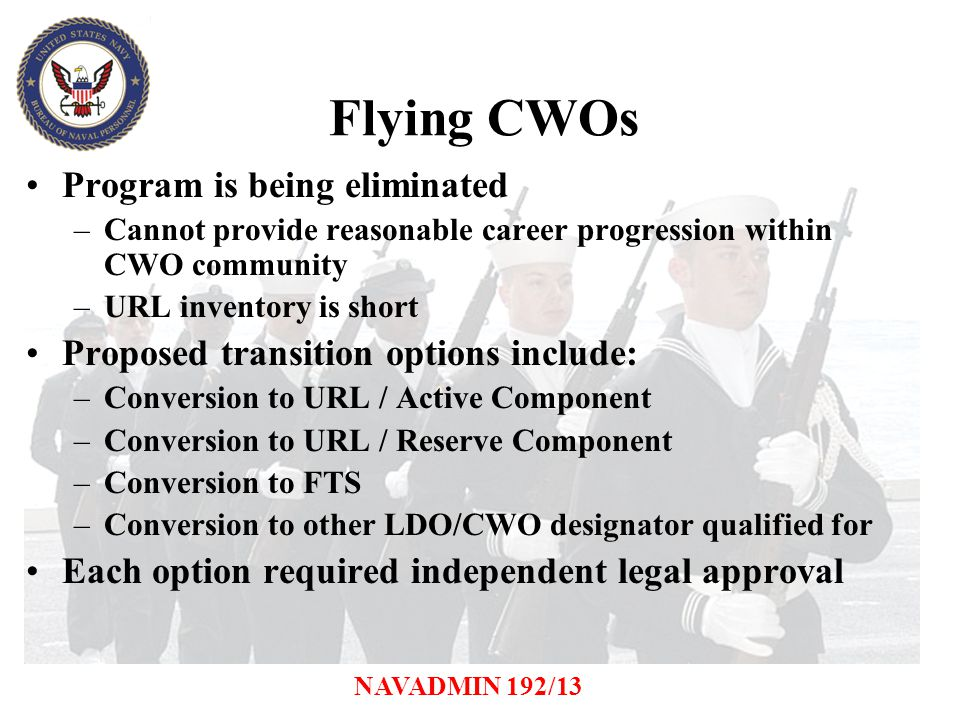 Flying CWOs Program is being eliminated