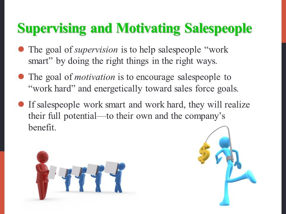 Supervising and Motivating Salespeople