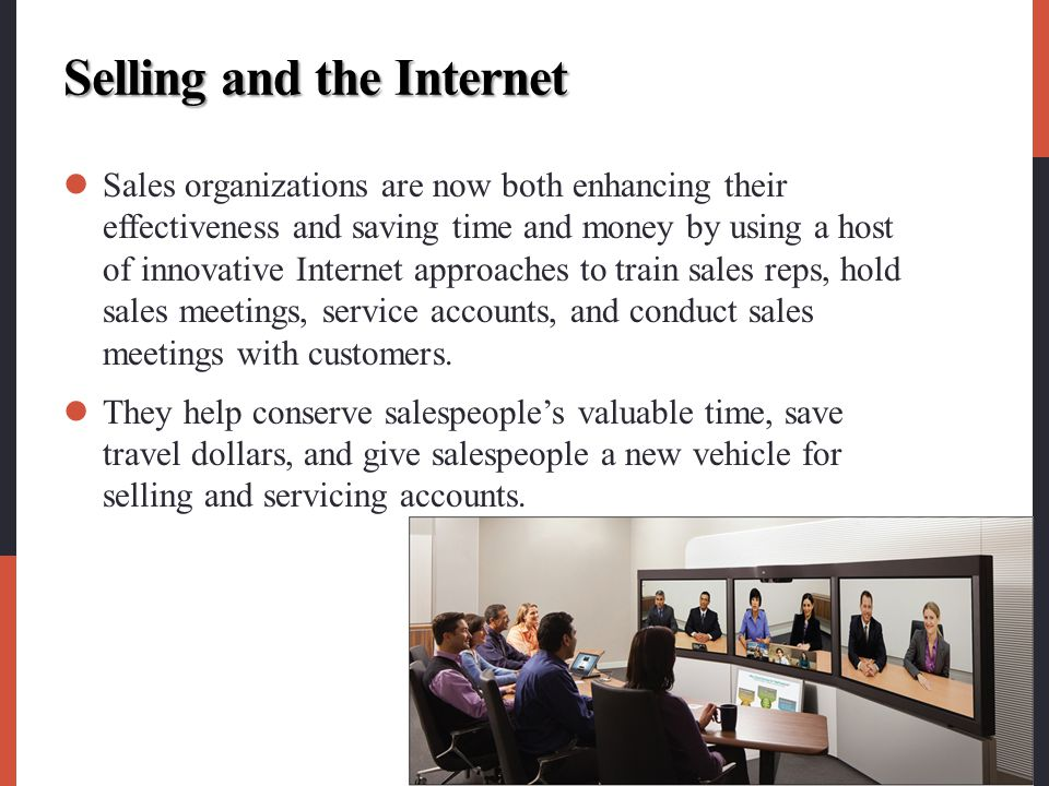 Selling and the Internet