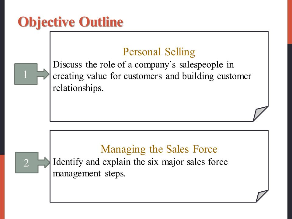 major steps in sales force management Customer oriented periodsales management & sales force management 8business - chapter 1 chapter 1  personal selling and promotional stepssales management & sales .
