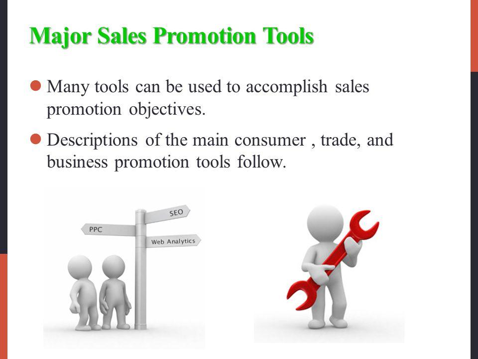 Major Sales Promotion Tools