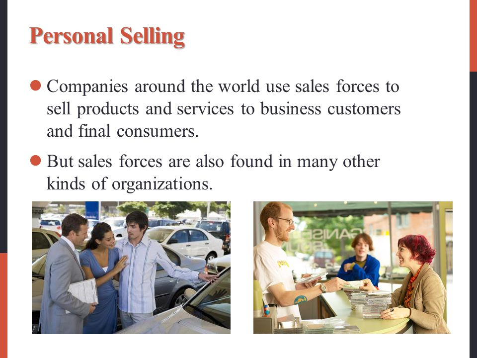 sales and personal selling Personal selling is an important element of promotion mix and an effective promotional tool personal selling offers the following compensation.