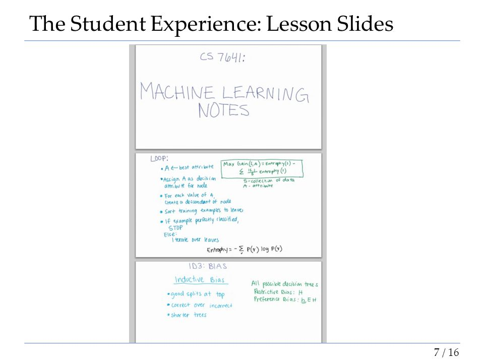 The Student Experience: Lesson Slides