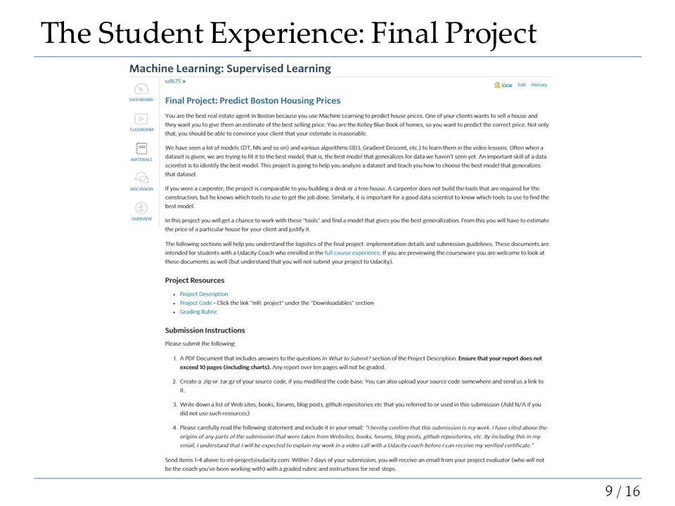 The Student Experience: Final Project