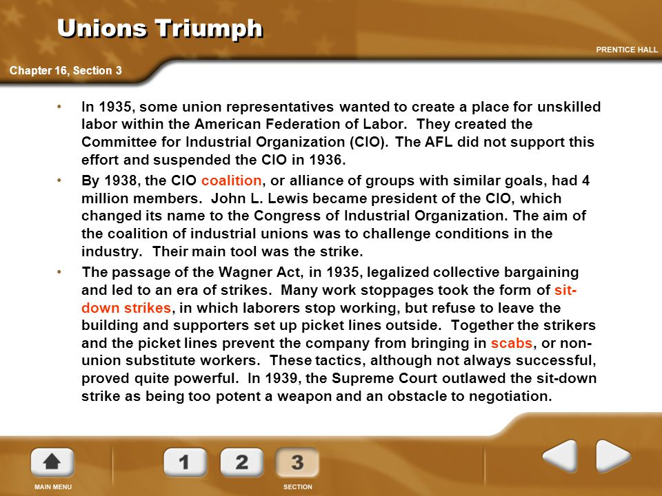 Unions Triumph Chapter 16, Section 3.