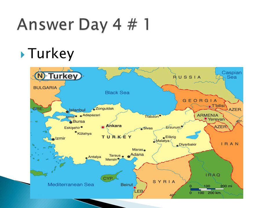 Answer Day 4 # 1 Turkey