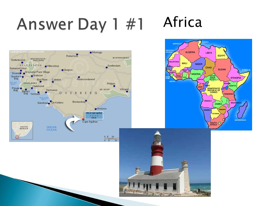 Answer Day 1 #1 Africa