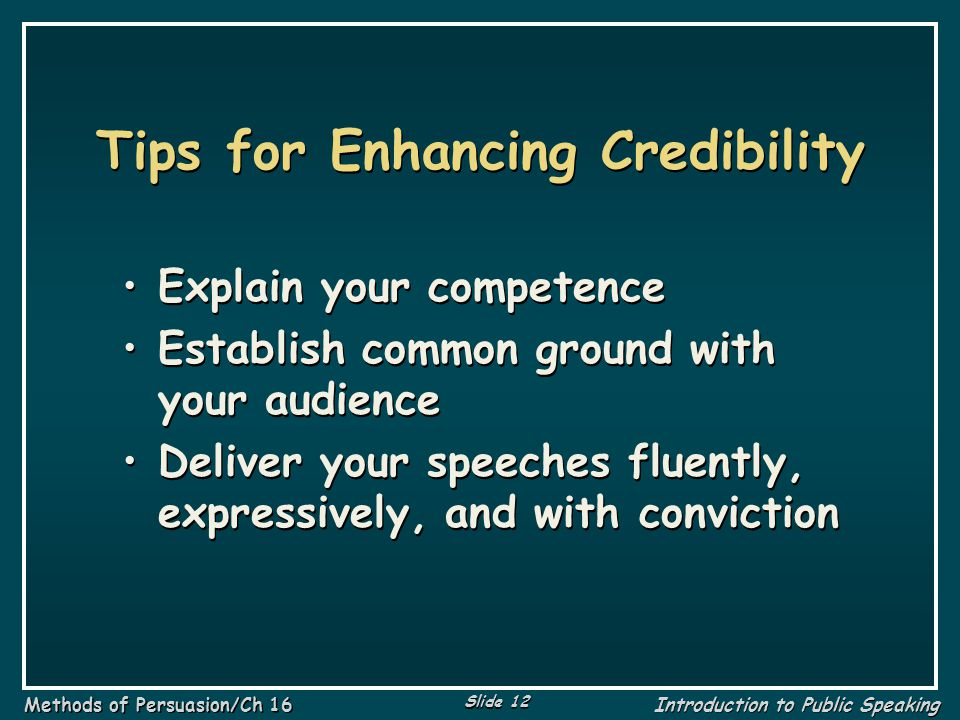 Tips for Enhancing Credibility