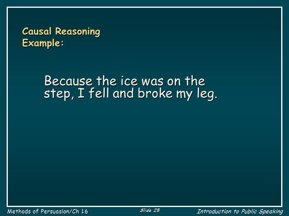 Causal Reasoning Example: