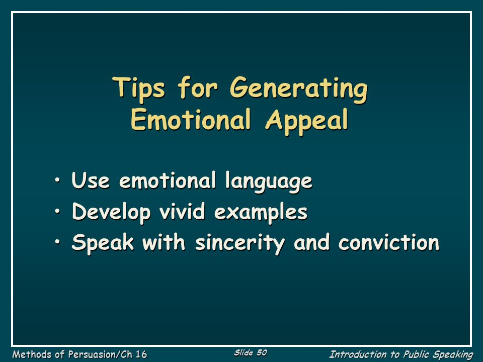 Tips for Generating Emotional Appeal