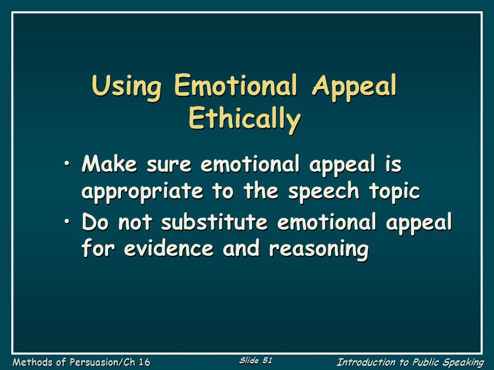 Using Emotional Appeal Ethically