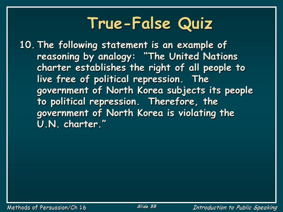 True-False Quiz