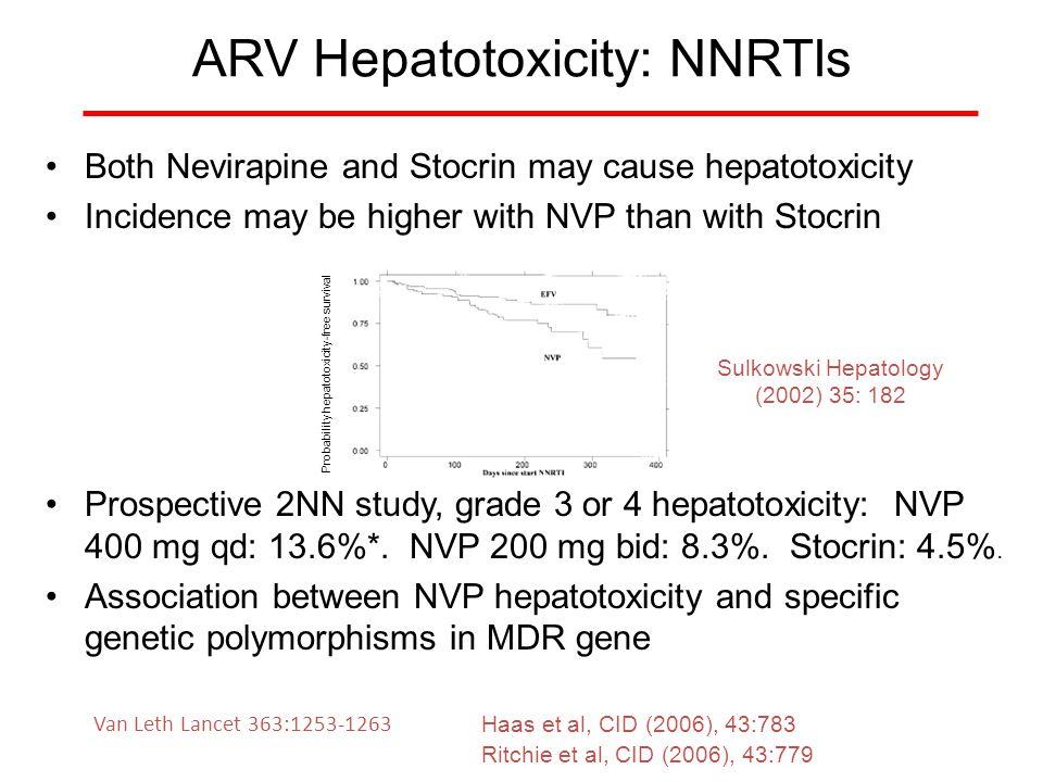 ARV Hepatotoxicity: NNRTIs
