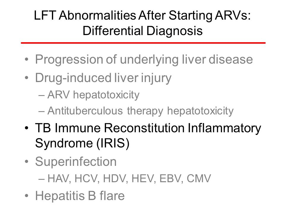 LFT Abnormalities After Starting ARVs: Differential Diagnosis