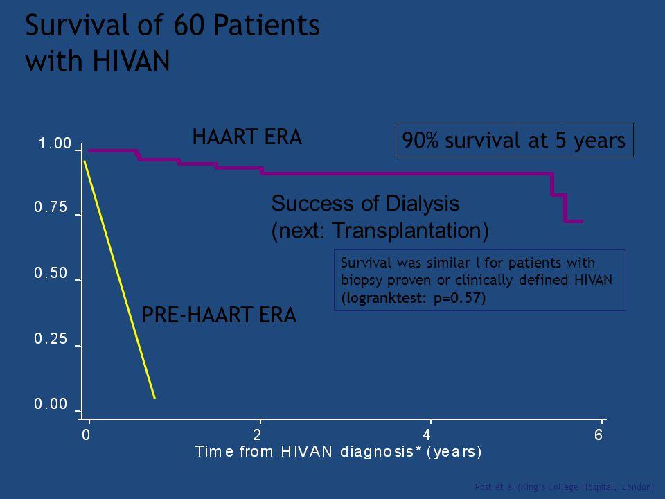 Survival of 60 Patients with HIVAN