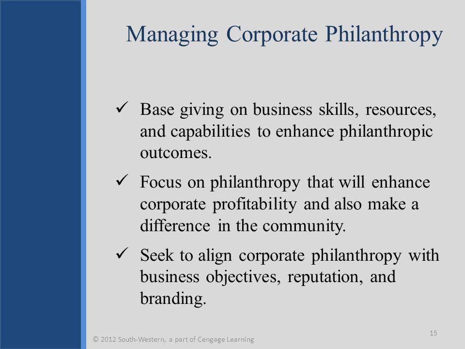 Managing Corporate Philanthropy