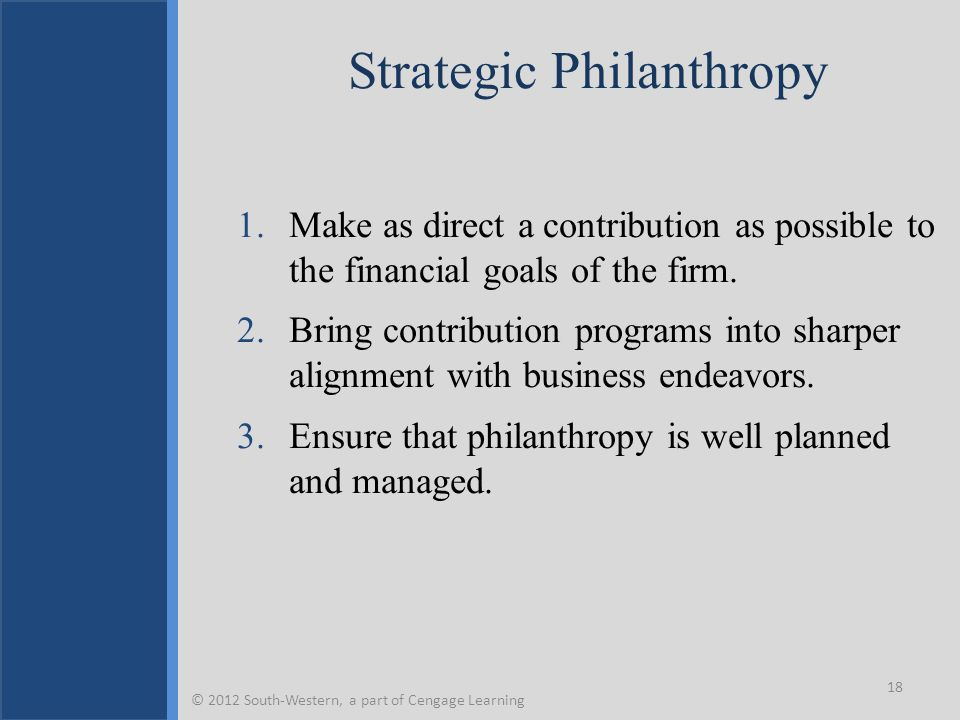 Strategic Philanthropy