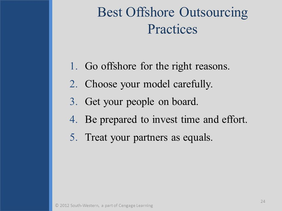 Best Offshore Outsourcing Practices
