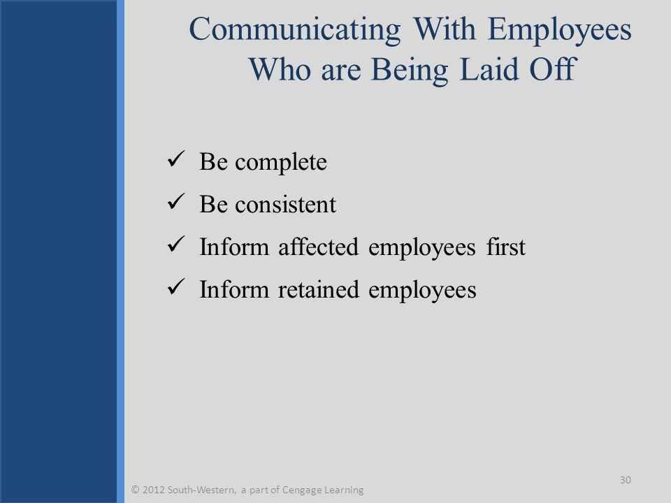 Communicating With Employees Who are Being Laid Off