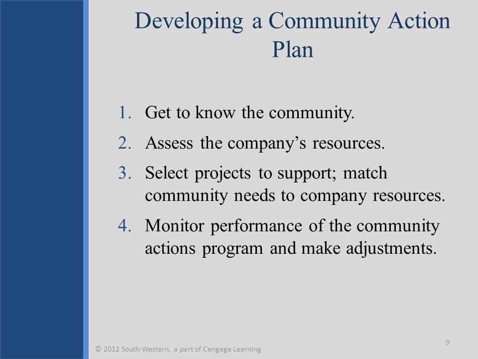 Developing a Community Action Plan
